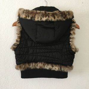 Guess Jackets & Coats - Guess Quilted Fur Vest Removable Hood